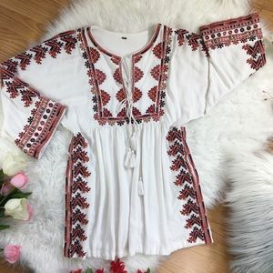 FREE PEOPLE Embroidered Floral Dress (W1-118)